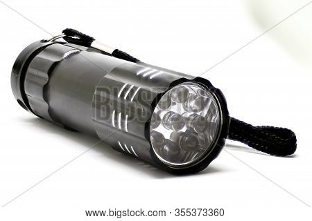 Isolated Led Torch. Led Hand Torch On White.