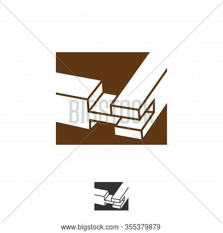 Wooden Joints Logo. The Butt Joint Is An Easy Woodworking Joint. Logo Basic Types Of Joints