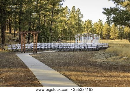 Beautiful Setting For An Outdoor Wedding In Flagstaff Arizona In A High-country Meadow.