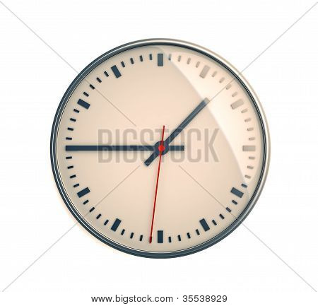 Clock on a light background