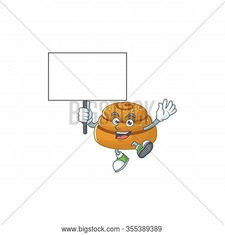 Sweet Kanelbulle Cartoon Character Bring A Board