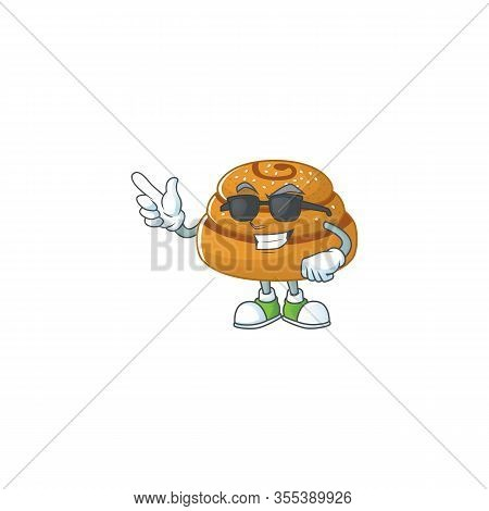 Cute Kanelbulle Cartoon Character Design Style With Black Glasses