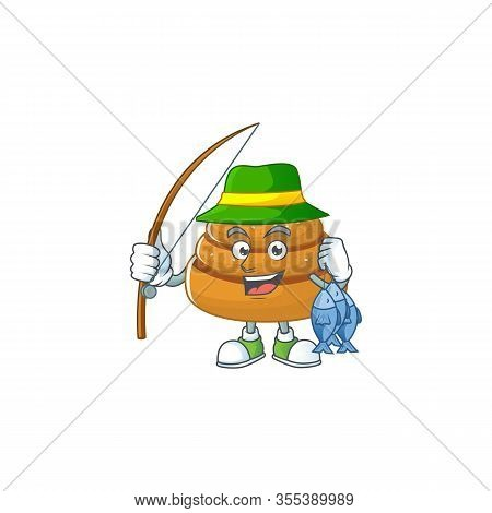 Cartoon Character Style Of Funny Fishing Kanelbulle