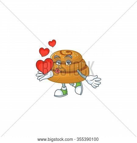 A Romantic Cartoon Character Of Kanelbulle With A Heart
