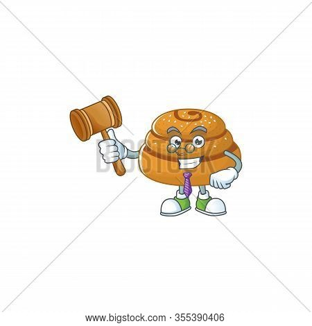 Kanelbulle Wise Judge Cartoon Character Design With Cute Glasses