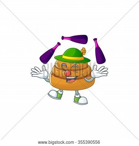 Kanelbulle Cartoon Character Concept Love Playing Juggling