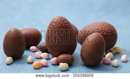 chocolate egg easter and candy- easter day