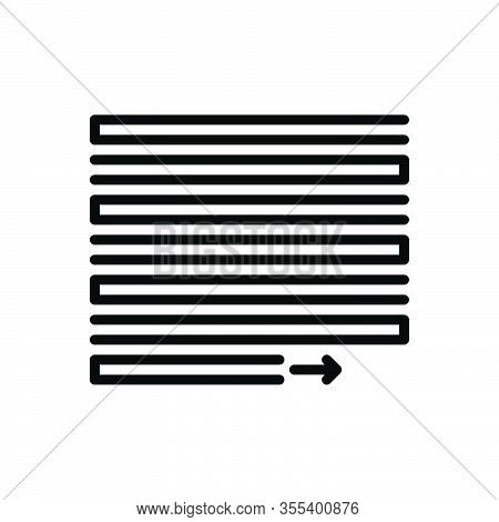 Black Line Icon For Justify Vindicate Document Layout Interface Alignment Align Contend Verify
