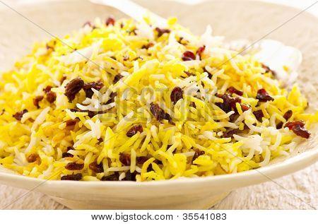 Persian saffron rice with berberis poster