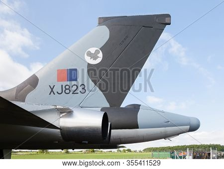 Carlisle, England - May 30:  A Tailfin Close Up Of Avro Vulcan B2 Xj823 At Solway Aviation Museum In