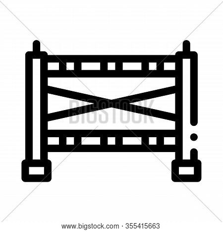 Sportive Barrier Icon Vector. Outline Sportive Barrier Sign. Isolated Contour Symbol Illustration