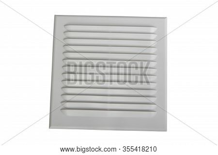 Ventilation Grating, White Grating For Air Ventilation Isolated On White Background