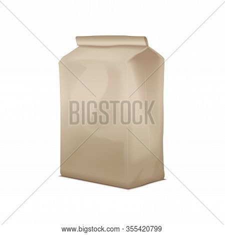 Blank Cardboard Take Away Lunch Package. Packaging For Sandwich, Food, Other Products. Vector Brown