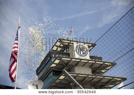 INDIANPOLIS, IN - JUL 29, 2012:  The NASCAR Sprint Cup Series take to the track for the Curtiss Shaver 400 at the Indianapolis Motor Speedway in Indianapolis, IN on Jul 29, 2012