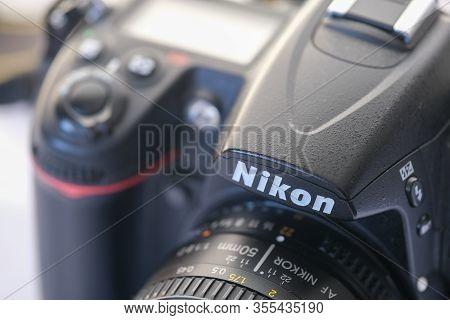 Eskisehir,turkey- March 01, 2020: Nikon D7000 Dslr Photography Camera With Nikkor  50 Mm Lens ,selec