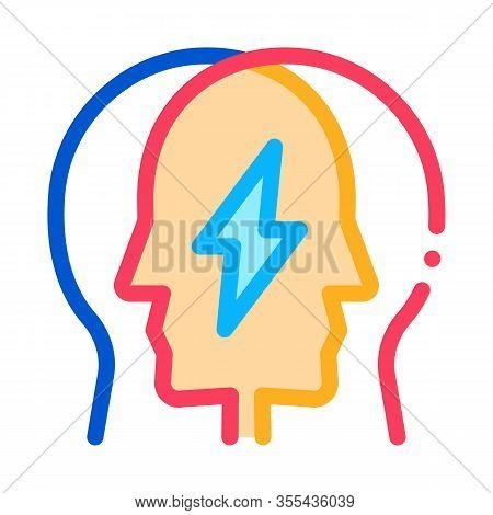 Human Versus Icon Vector. Outline Human Versus Sign. Color Isolated Contour Symbol Illustration