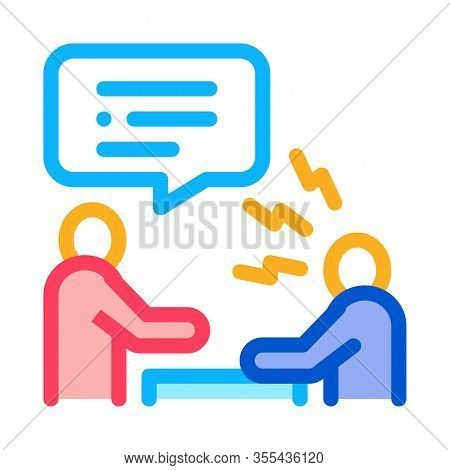 Verbal Battle Icon Vector. Outline Verbal Battle Sign. Color Isolated Contour Symbol Illustration