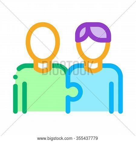 Human One Whole Icon Vector. Outline Human One Whole Sign. Isolated Contour Symbol Illustration