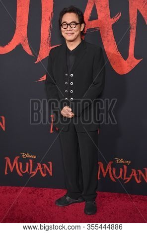 LOS ANGELES - MAR 09:  Jet Li arrives for 'Mulan' World Premiere on March 09, 2020 in Hollywood, CA