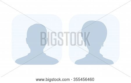 Default Avatars, Photo Placeholders, Profile Pictures, Male And Female, Eps 10 File, Easy To Edit