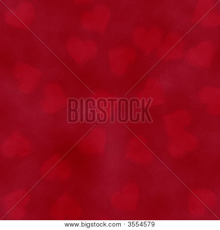 Background Blurry Hearts
