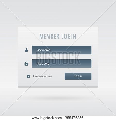 Elegant Member Login Form In Light User Interface