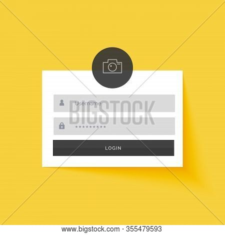 Yellow Login Form Template Design Background