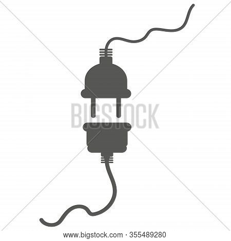 Electric Socket With A Plug. Connection And Disconnection Concept. Concept Of 404 Error Connection.