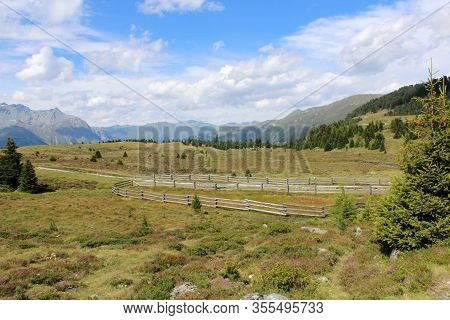 The Beautiful Mountain Landscape Of The Resia Valley Between The Friuli Alps In Italy