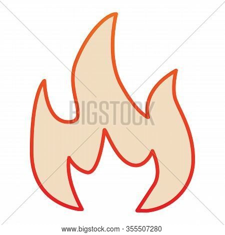 Highly Flammable Flat Icon. Attention Fire Warning Sign. Firefighter Vector Design Concept, Gradient