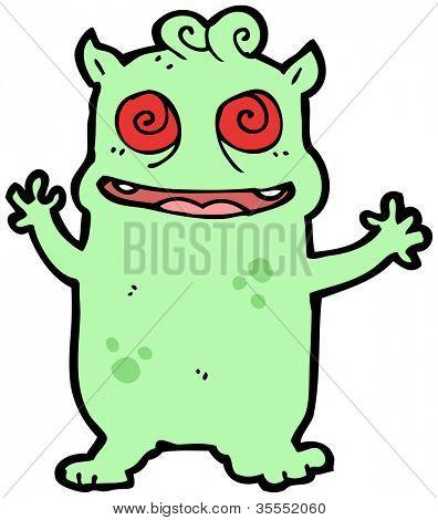 crazy monster cartoon poster