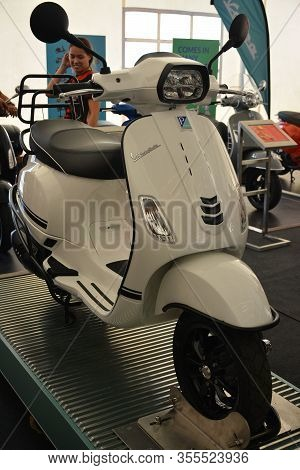 Pasig, Ph - Mar. 7: Vespa S125 2020 Motorcycle At 2nd Ride Ph On March 7, 2020 In Pasig, Philippines
