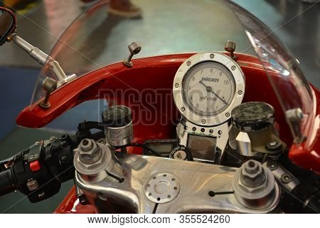 Pasig, Ph - Mar. 7: Ducati Motorcycle Speedometer At 2nd Ride Ph On March 7, 2020 In Pasig, Philippi