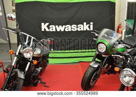 Pasig, Ph - Mar. 7: Kawasaki Motorcycle Booth At 2nd Ride Ph On March 7, 2020 In Pasig, Philippines.