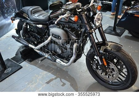 Pasig, Ph - Mar. 7: Harley Davidson 2020 Sportster Roadster 1200 Motorcycle At 2nd Ride Ph On March