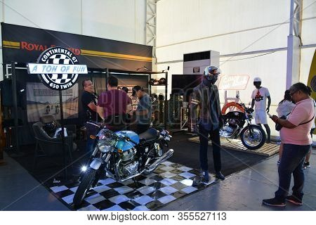 Pasig, Ph - Mar. 7: Royal Enfield Motorcycle Booth At 2nd Ride Ph On March 7, 2020 In Pasig, Philipp