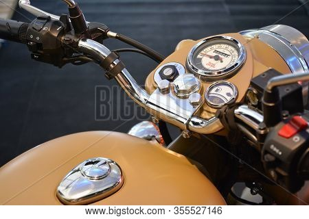 Pasig, Ph - Mar. 7: Royal Enfield Classic 500 Motorcycle At 2nd Ride Ph On March 7, 2020 In Pasig, P