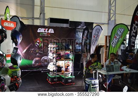 Pasig, Ph - Mar. 7: Gille Motorcycle Helmets Display Booth At 2nd Ride Ph On March 7, 2020 In Pasig,