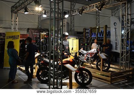 Pasig, Ph - Mar. 7: Ducati Scrambler Motorcycle Booth At 2nd Ride Ph On March 7, 2020 In Pasig, Phil