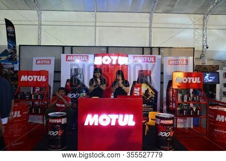 Pasig, Ph - Mar. 7: Motul Motorcycle Oil Products Booth At 2nd Ride Ph On March 7, 2020 In Pasig, Ph