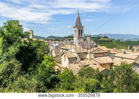 Santa Maria Assunta Cathedral, Spoleto, Perugia District, Umbria, Italy, Europe