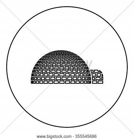 Igloo Dwelling With Icy Cubes Blocks Place When Live Inuits And Eskimos Arctic Home Dome Shape Icon