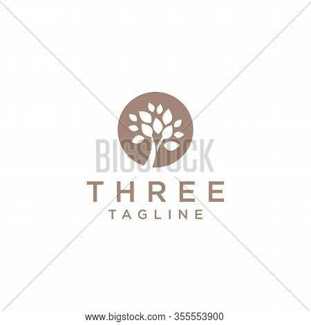 Thee Logo Vector And Minimalist, Templates, Tree