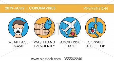 coronavirus. coronavirus prevention. corona virus vector. coronavirus icon vector. corona virus treatment. corona virus symptom. corona virus illustration. coronavirus 2019-nCoV prevention vector for website, sign, mobile, app, UI.