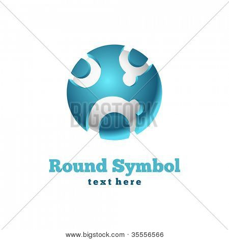 Round icon. Abstract symbol. Vector business sign.
