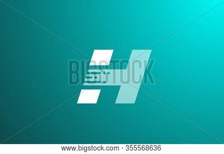 H, Letter, Logo, Alphabet, White, Green, Transparent, Stylish, Icon, Design, Elegant, Trendy, Catchy