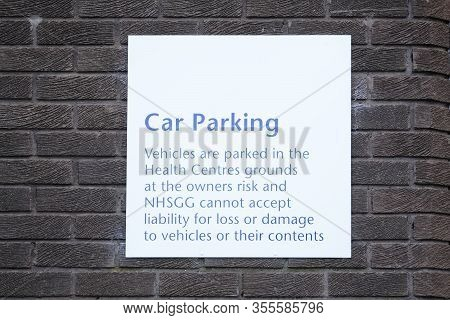 Car Park Sign Unable To Accept Responsibility Or Liability For Thief, Loss Or Damage Uk