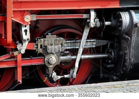 View Of An Old Steam Locomotive, Details Of A Locomotive
