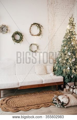 Stock Photo - Hand Knotted Carpet With Christmas Decorations