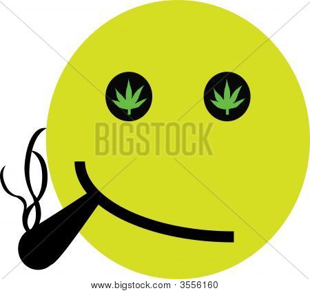 Hemp Smoking Smiley